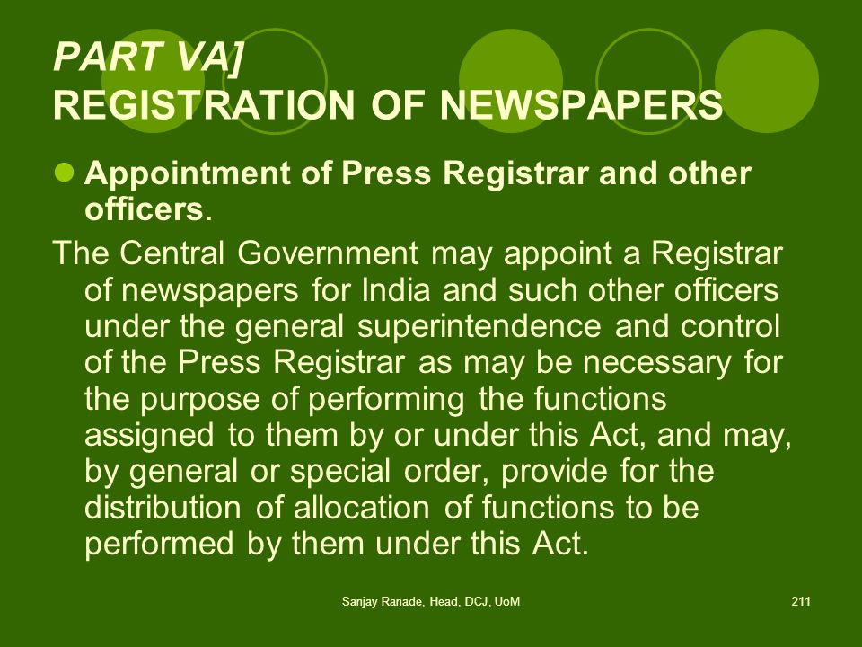 PART VA] REGISTRATION OF NEWSPAPERS